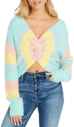 Buffalo David Bitton Jasper Twist-Front Cropped Sweater