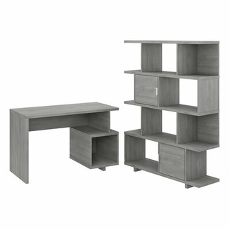 Kathy Ireland Madison Avenue Desk Home by Bush Furniture Color: Modern Gray