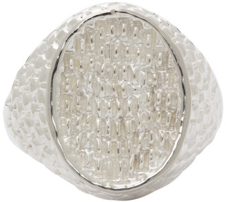 Hatton Labs Silver Oval Keepers Ring