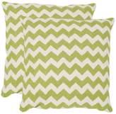 Safavieh Chevron Tealea 2-piece 18'' x 18'' Throw Pillow Set