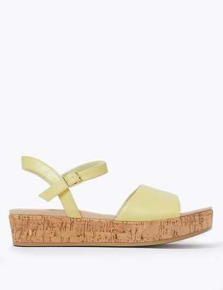 Marks and Spencer Ankle Strap Flatform Open Toe Sandals