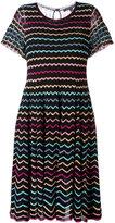Marc Jacobs zigzag babydoll lace dress - women - Silk/Nylon/Viscose/Metallic Fibre - L