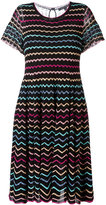 Marc Jacobs zigzag babydoll lace dress - women - Silk/Nylon/Viscose/Metallic Fibre - S