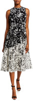 Derek Lam Jason Wu Collection Floral Crinkle Chiffon Dress