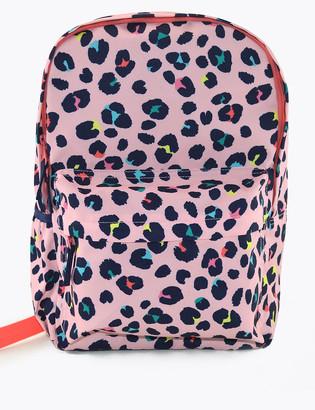 Marks and Spencer Kids' Leopard Print School Backpack