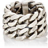 Saint Laurent Men's Double-Curb-Chain Ring