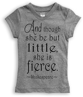 Urban Smalls Gray Shakespeare Fitted Tee - Toddler & Girls