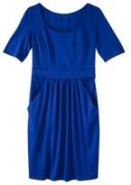 Mossimo Petites Elbow-Sleeve Ponte Dress - Assorted Colors