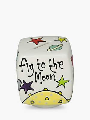 Gallery Thea Personalised Spaceman Cube Money Box
