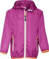 Playshoes Girl's Waterproof Rain Jacket Packable Hoodie Raincoat,3- (Manufacturer Size:104)