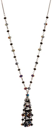 Kirks Folly Dancing Tassel Beaded Necklace