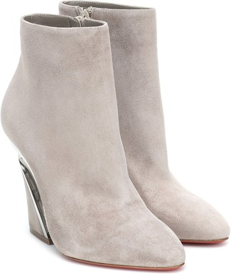 Christian Louboutin Levitibootie 100 suede ankle boots