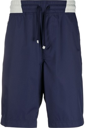 Brunello Cucinelli Colour Block Elasticated Waist Shorts