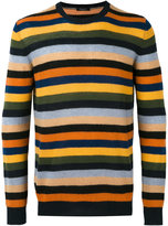 Roberto Collina striped crew neck jumper - men - Cashmere - 46