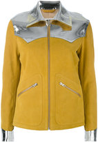 MM6 MAISON MARGIELA zipped jacket - women - Calf Leather/Polyester/Polyurethane/Viscose - 42