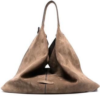 Brunello Cucinelli Oversize Slouch Suede Bag