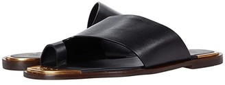 Tory Burch Selby Toe Ring Slide (Perfect Black) Women's Shoes