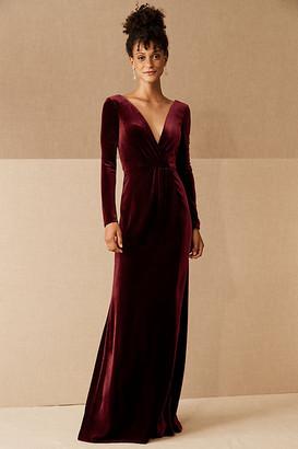 Jenny Yoo Ryland Velvet Dress By in Purple Size 0