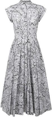 Alexander McQueen Pleated Skirt Printed Dress