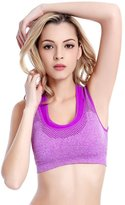 Leefi Double Layer Seamless Sport Bra High Impact Support Workout Activewear Bra(,M)