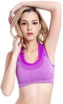 Leefi Double Layer Seamless Sport Bra High Impact Support Workout Activewear Bra(,S)