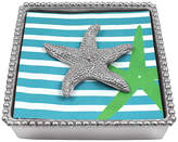 Mariposa Starfish Beaded Napkin Box - Silver