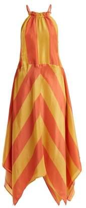 Apiece Apart Timia Striped Halterneck Dress - Womens - Red Stripe