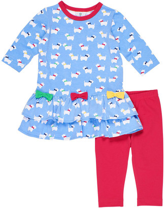 Florence Eiseman Girl's Scottie Two-Piece Outfit Set, Size 6-24 Months