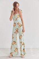 Flynn Skye Bardot Floral Button-Down Jumpsuit