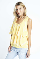 Karen Zambos Feather Scallop Top