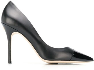 Tory Burch Patent Cap Pointed-Toe Pumps