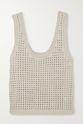 Nanushka Tula Crocheted Cotton-blend Tank - Cream