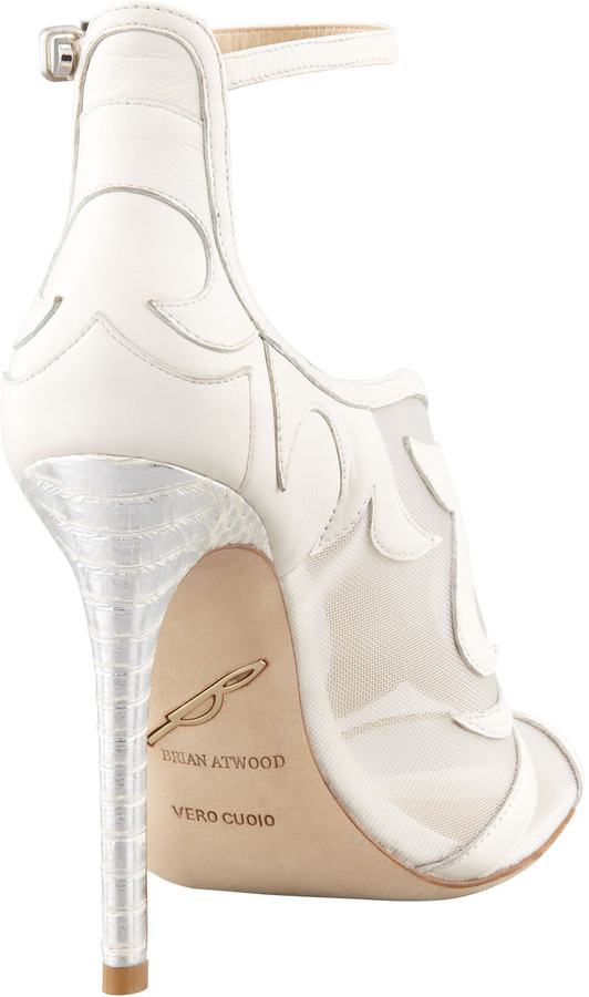 Brian Atwood Linscott Mesh-Inset Bootie