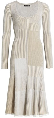 Proenza Schouler Matte Viscose Patchwork Knit Dress