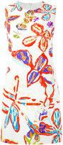 Peter Pilotto batik print shift dress - women - Spandex/Elastane/Viscose/Acetate/Polyester - 8