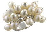 Sterling Silver Pearl Cluster Ring