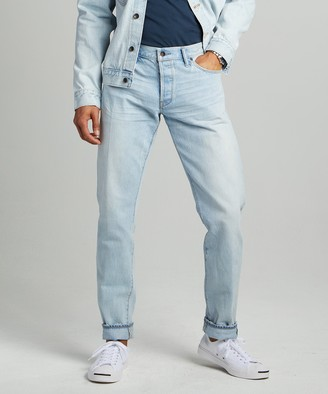 Todd Snyder Slim Fit Japanese Selvedge Jean in Sun Bleach Wash