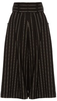 J.W.Anderson Striped pleat-front culottes