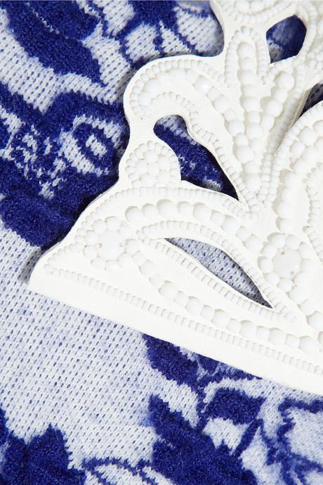 Valentino Intarsia stretch-knit dress