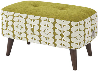 Orla Kiely Donegal Pouf - Small - Olive/Yellow