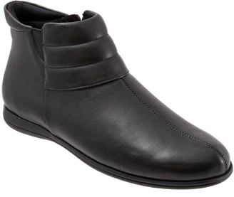 Trotters Leather Side-Zip Comfort Booties - Dory