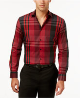 Alfani Long-Sleeve Plaid Shirt, Only at Macy's