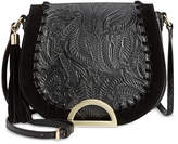 INC International Concepts Maraa Embossed Saddle Bag, Created for Macy's