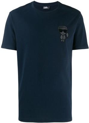 Karl Lagerfeld Paris crewneck ikonik print T-shirt