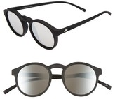 Le Specs Women's Cubanos 47Mm Round Sunglasses - Black Rubber