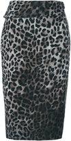 Tom Ford leopard print wrap skirt