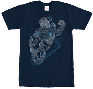 Fifth Sun Men's Tee Shirts NAVY - Navy Iron Man Strings Tee - Men