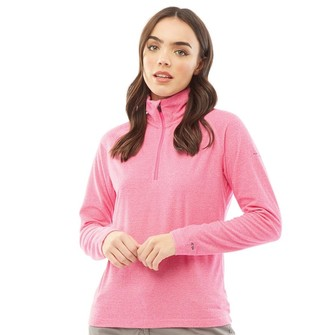 Trespass Womens Meadows 1/2 Zip Micro Fleece Pink Lady