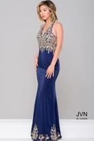 Jovani V-Neck Fitted Long Dress JVN46281