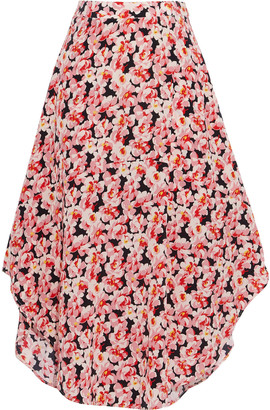 Stella McCartney Floral-print Silk Crepe De Chine Skirt
